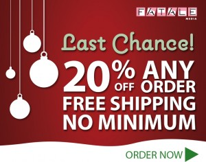 Free Shipping and Save 20%