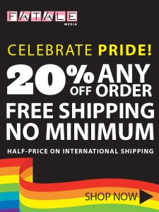 Pride Sale Free Shipping and 20% Off