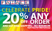 Pride 20% Discount and free shipping